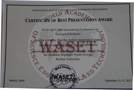 TSU Professor Awarded for Best Presentation at International Conference
