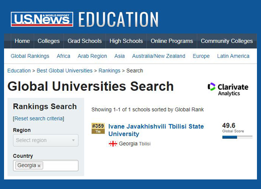 TSU among Best Global Universities